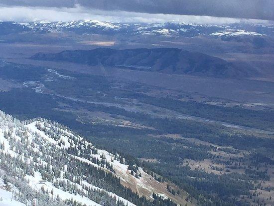 Teton Village, WY: View from gondola