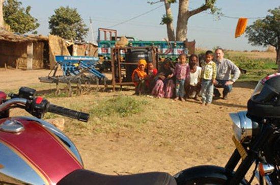 Tour de motos en Jaipur al lago...