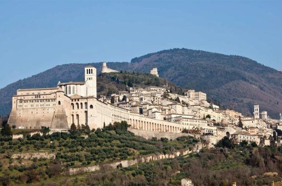 Assisi Cortona og vinsmaking Fullday...