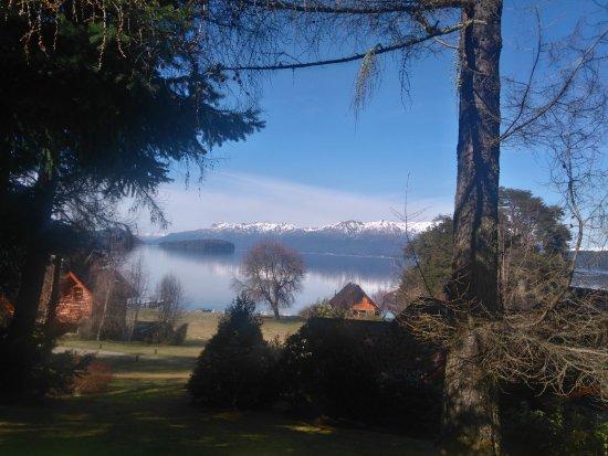 Cabanas Puerto Arauco : vista desde el deck de la cabaña