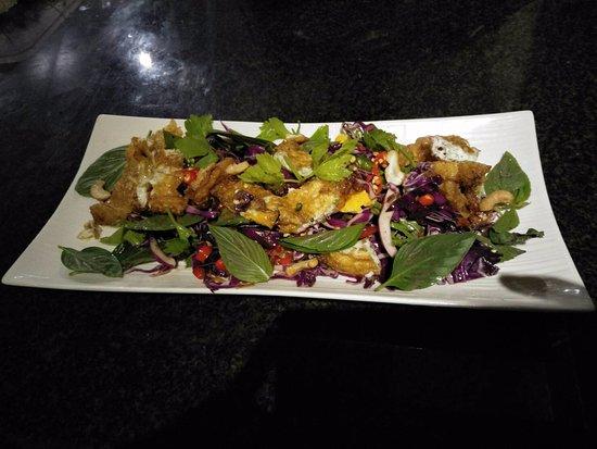 Poipet, Kamboja: ยำผักรวม แห้งๆแต่ก้อร่อยดี