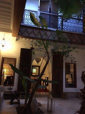 Internal courtyard of Riad Djebel