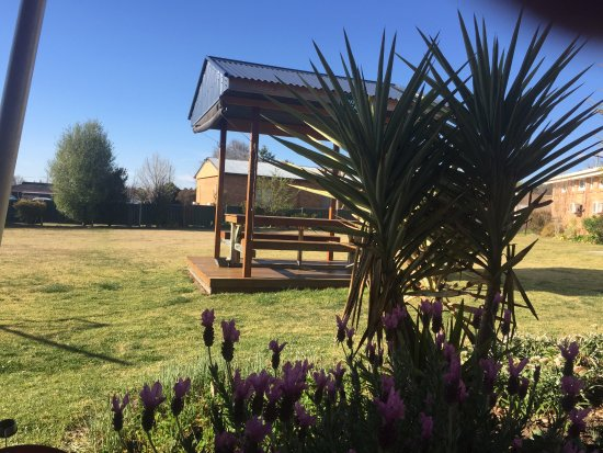 Glen Innes Motel: seating and large grounds