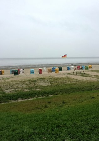 Dangast, Tyskland: Badestrand