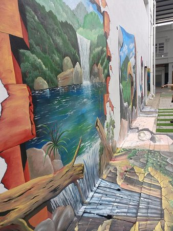 Riverfront City: wall painting