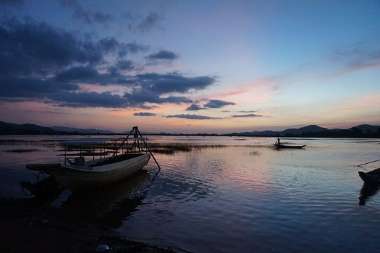 Dak Lak Province, Vietnam: Sunset on the lake