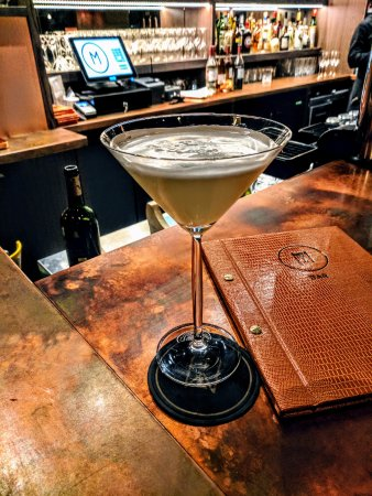 The cocktails are as cool as the copper bar.