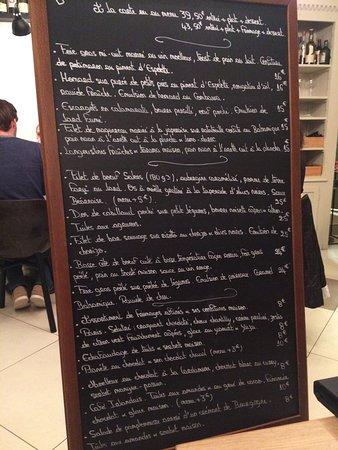 La Courtille de Solutre: Repas en amoureux hier soir, entièrement satisfaisant !