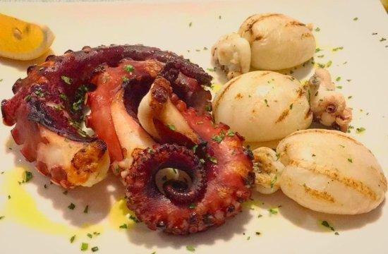 Grilled octopus and calamari picture of la lampara crema