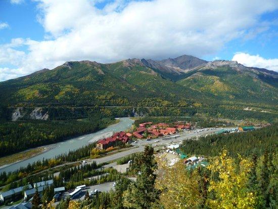 Alpenglow Restaurant- Grande Denali Lodge: Man sitzt quasi in einer armenberauschenden Landschaft!
