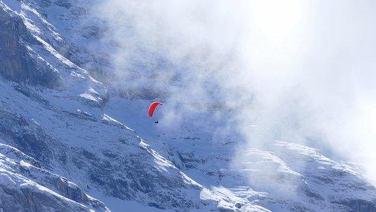 Jungfrau Region, Switzerland: Paragliding at Kleine Scheidegg