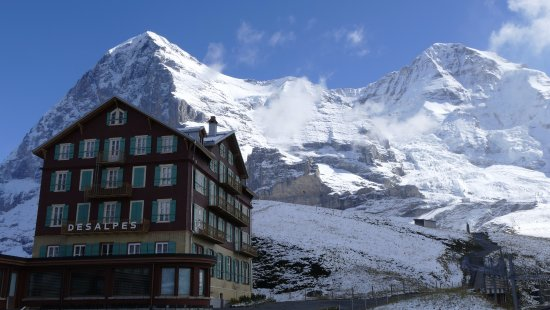 Jungfrau Region, Switzerland: Eiger and Moench from Kleine Scheidegg