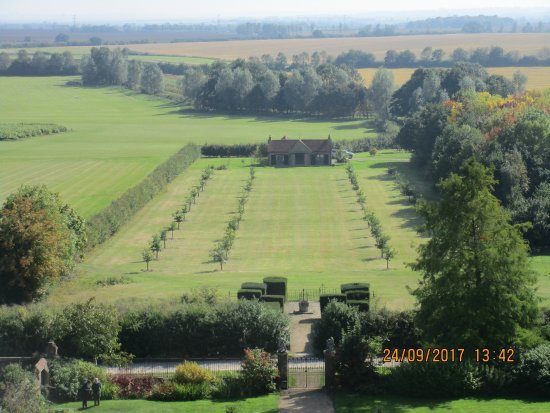 Layer Marney Tower: View of the grounds from the tower