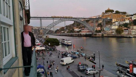 Pestana Vintage Porto : Evening view from Vintage Grand View Balcony #306