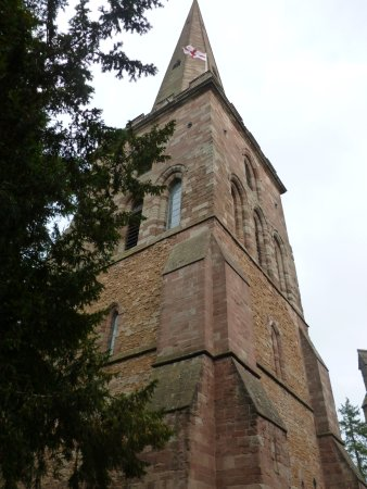 Ledbury, UK: separate belltower