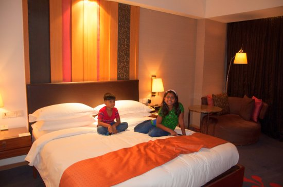 Holiday Inn New Delhi Mayur Vihar Noida: Bed Inner view from entrance