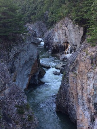 Ryuokyo Canyon : むささび橋から鬼怒川の上流を望む