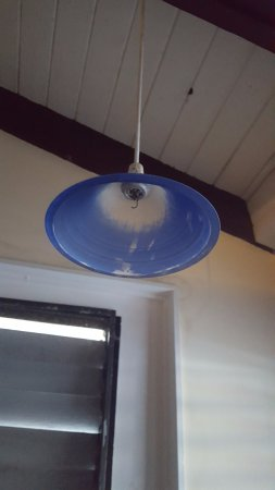 North Caicos: one of many broken light fixtures