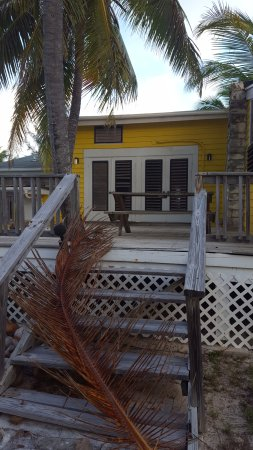 North Caicos: never-used back porch with broken stairs