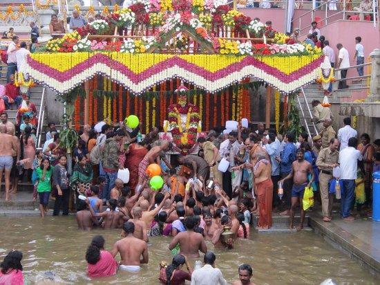 Bhagamandala, India: Theerthodbhava at Talakaveri  every year on 17th or 18th of October
