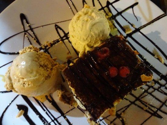 Tiramisu with amazing ice cream