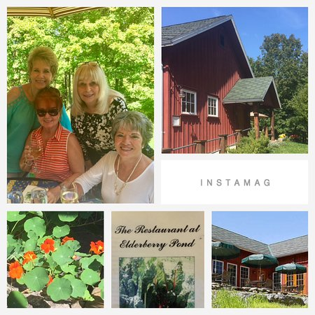 Auburn, NY: A collage from a wonderful friends for lunch.