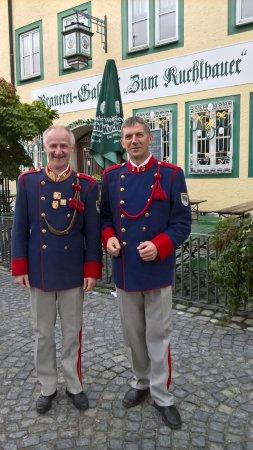 Zum Kuchlbauer: Zwei Musiker des Musikvereines Aigen-Schlägl
