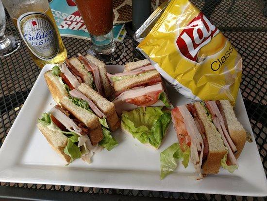 Birchwood, WI: club sandwich lunch