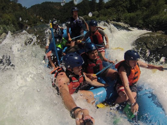 Lotus, CA: Selfie stick perspective of whitewater rafting