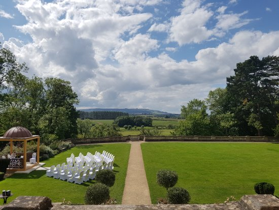 The Wood Norton Hotel: Couple from my wedding and the view from the bridal suite