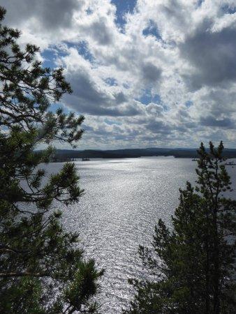 Visit Inari Safaris: Lake Inari, on top of the Ukko island