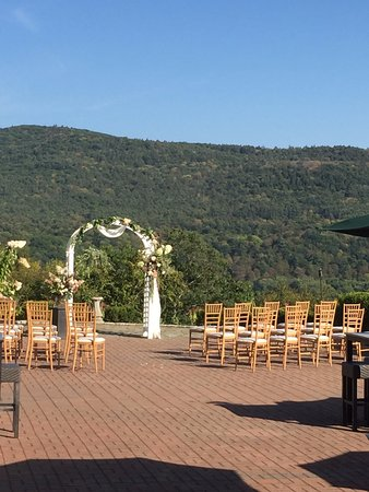 Windsor, VT: Wedding ceremony on the patio
