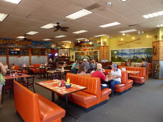 Sedalia, MO: Interior of Cafe Showing Tables and Check Out Area