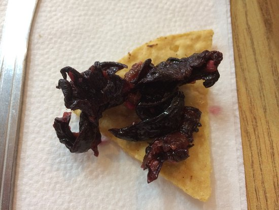 Flor De Jamaica Hibiscus Flowers Pickled And Added To The Salsa