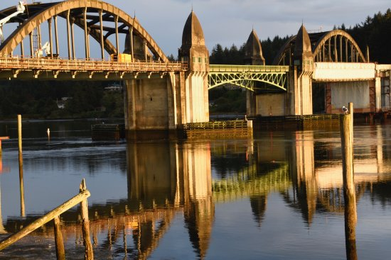 Siuslaw River Bridge: View from River House Inn