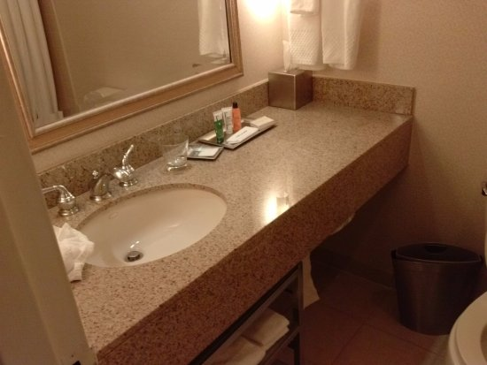 Hilton Boca Raton Suites: Bathroom Is Adequate But Toilet Is Extremely Low/Small