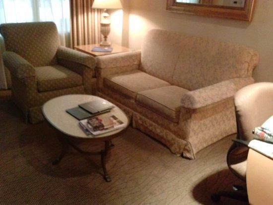 Hilton Boca Raton Suites: Living Room Needs Modernization and Improved Lighting