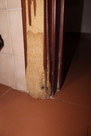 Apartamentos Roc Oasis Park: bâti de porte vermoulue et rongé par l'humidité