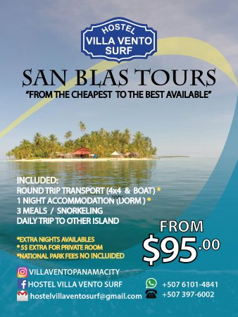 Hostel Villa Vento Surf: Ask for your trip to San Blas (: