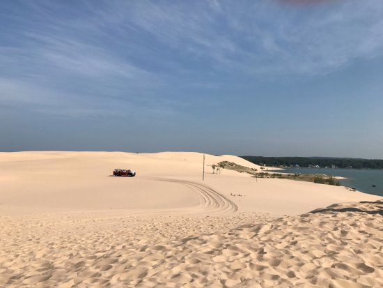 Mears, MI: View of Silver Lake Sand Dunes and Silver Lake with Mac Dunes mobile in the distance