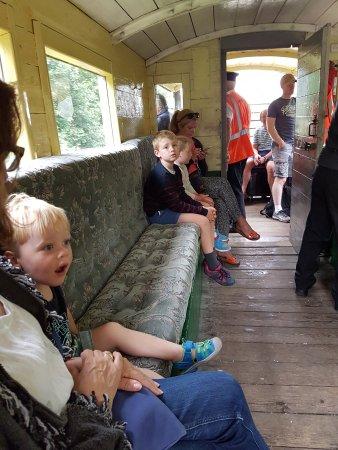 Isfield, UK: Inside the guards van.