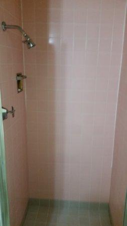 Americas Best Value Inn: Pink Tiled Shower