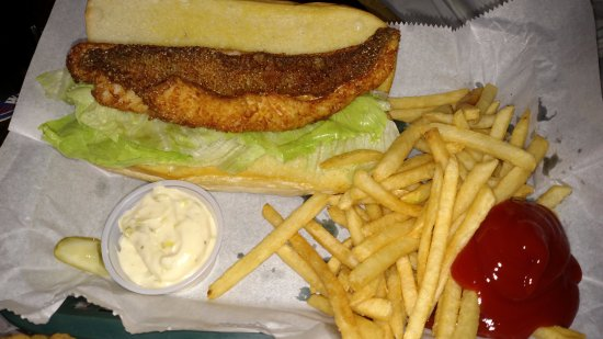Slo's Pub - Big Arbor Vitae - Woodruff - Jack & Coke - Delicious Food - Walleye Sandwich