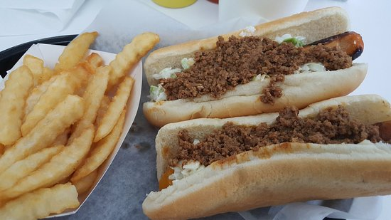 Mebane, NC: Hot dog, cheese dog, fries, and a drink
