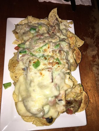 Tryst Coffee House and Bar: Nachos Locos with pulled pork
