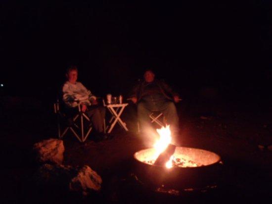 Mather Campground : Nice campfire.