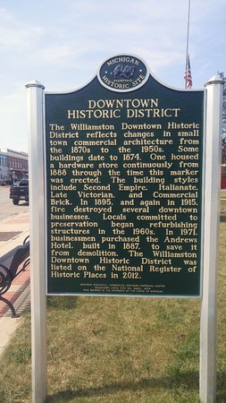 MI - Williamston - Downtown Historical Marker