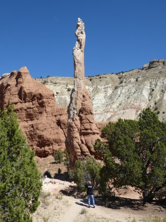 Cannonville, UT: What a tall spire.. check the scale