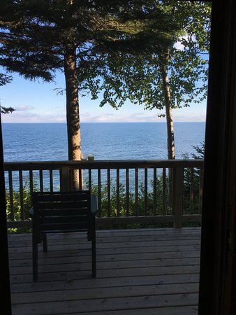Lutsen Resort on Lake Superior: From Log Cabin 10. All have similar views.