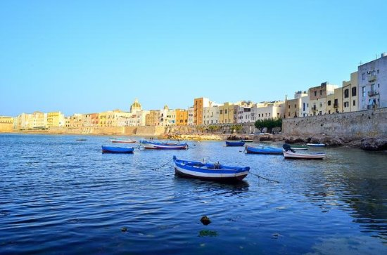 Trapani city centre and Saltpans...